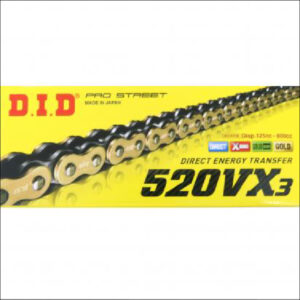 DID 520 VX3 X Ring Chain 120L