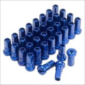 Zeta Z Wheel Nipple Set Blue Alloy 36pcs